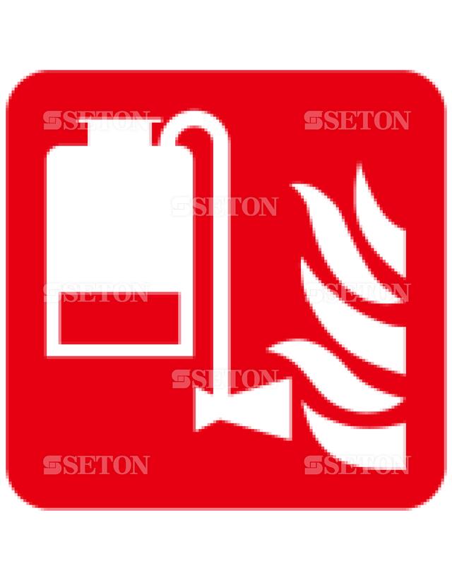 フロア・サインマークシール ISO 携帯型泡消火器 言語なし 140×140
