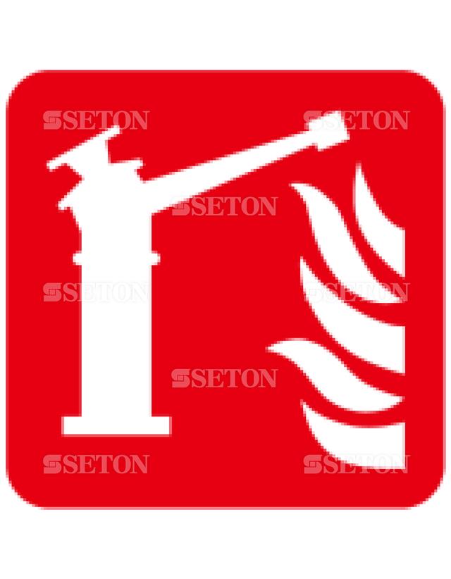 フロア・サインマークシール ISO 火災監視装置 言語なし 140×140