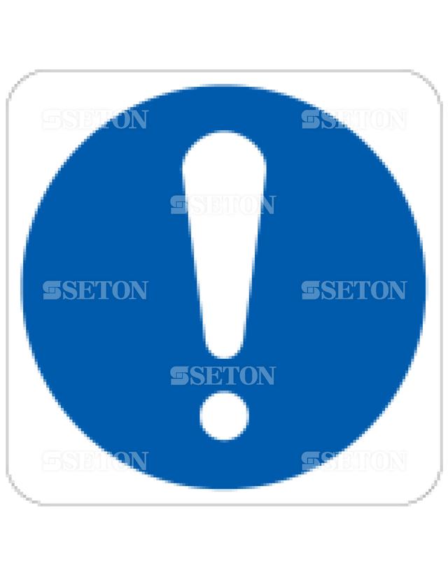 フロア・サインマークシール ISO 一般的指示 言語なし 140×140