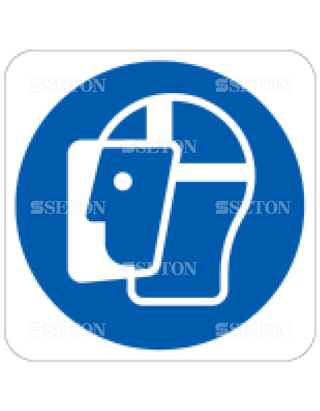 フロア・サインマークシール ISO フェースカバーを使用 言語なし 140×140