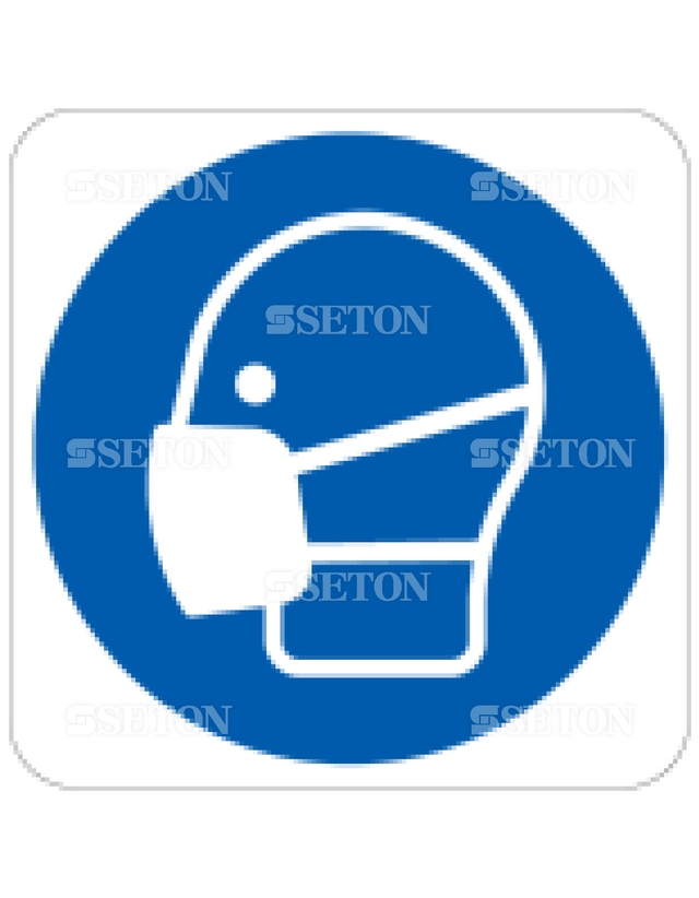フロア・サインマークシール ISO マスク着用 言語なし 140×140