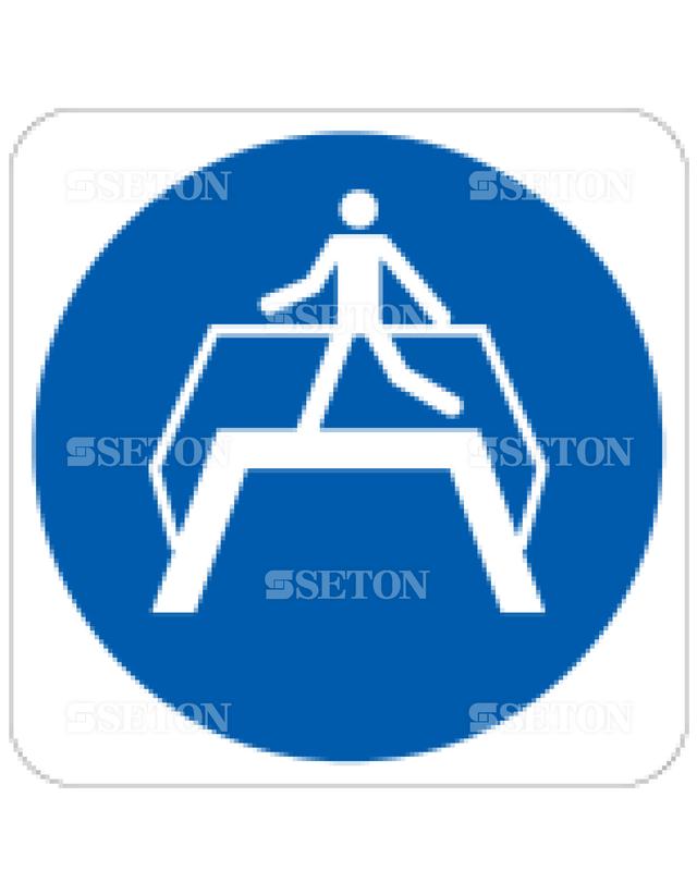 フロア・サインマークシール ISO 足橋を使用 言語なし 140×140