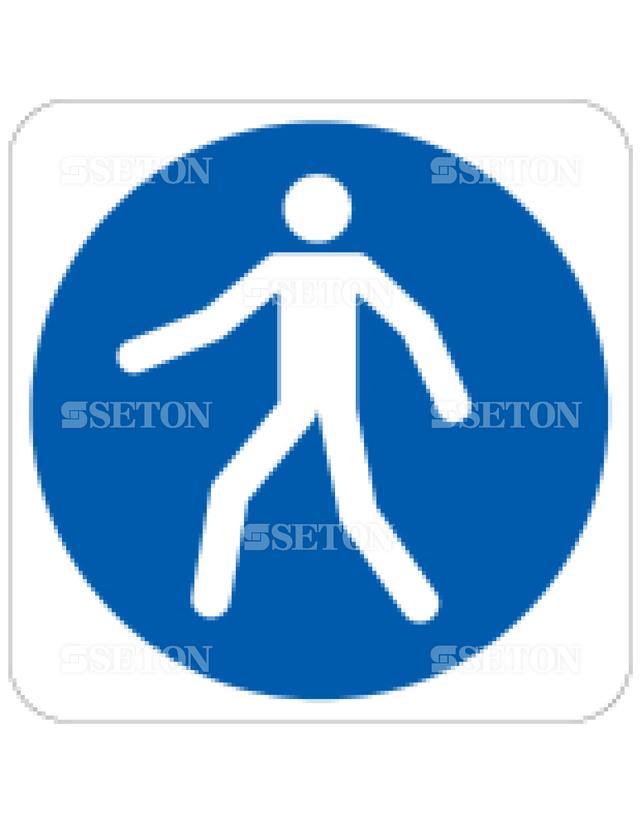 フロア・サインマークシール ISO 歩道を使用 言語なし 140×140