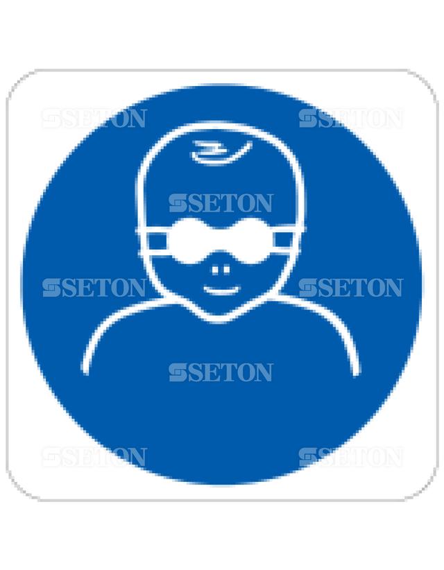 フロア・サインマークシール ISO 幼児に色のついたメガ 言語なし 140×140
