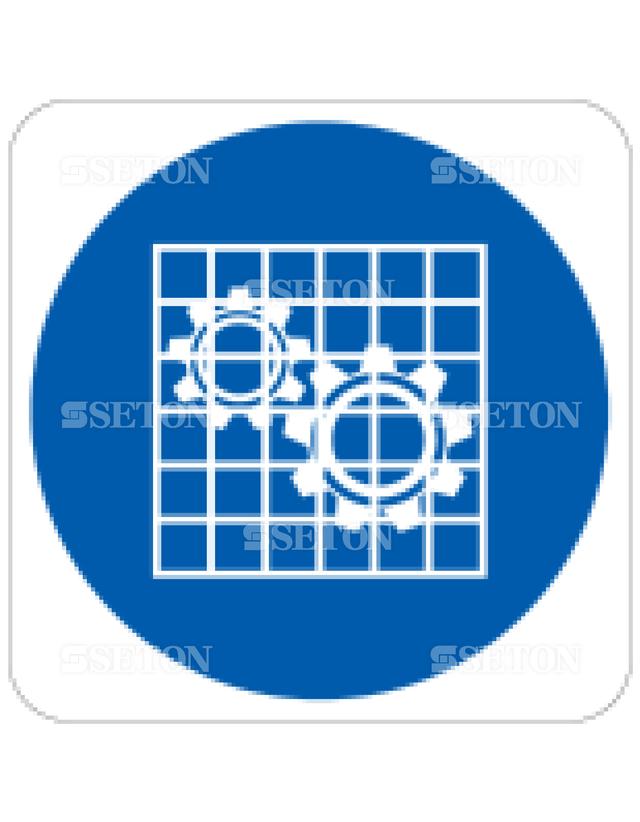 フロア・サインマークシール ISO カバーを付ける 言語なし 140×140