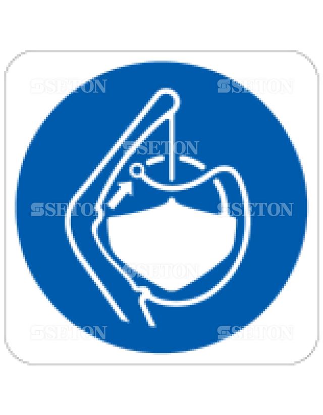 フロア・サインマークシール ISO 救命艇を離す 言語なし 140×140