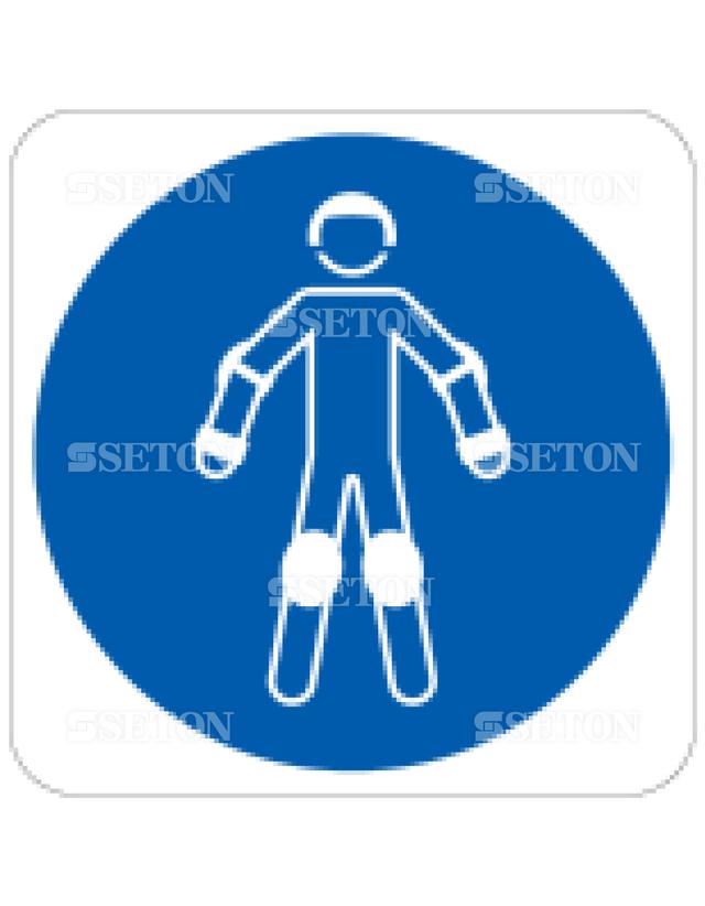 フロア・サインマークシール ISO ローラーボール用保護 言語なし 140×140