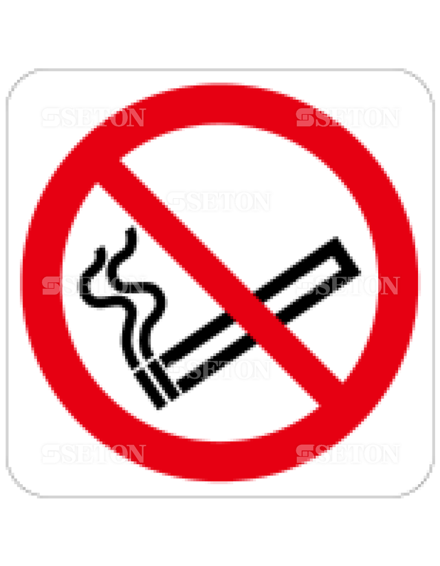 フロア・サインマークシール ISO 禁煙 言語なし 140×140