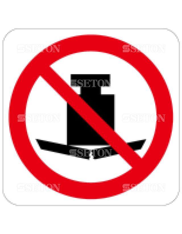 フロア・サインマークシール ISO 重量物禁止 言語なし 140×140