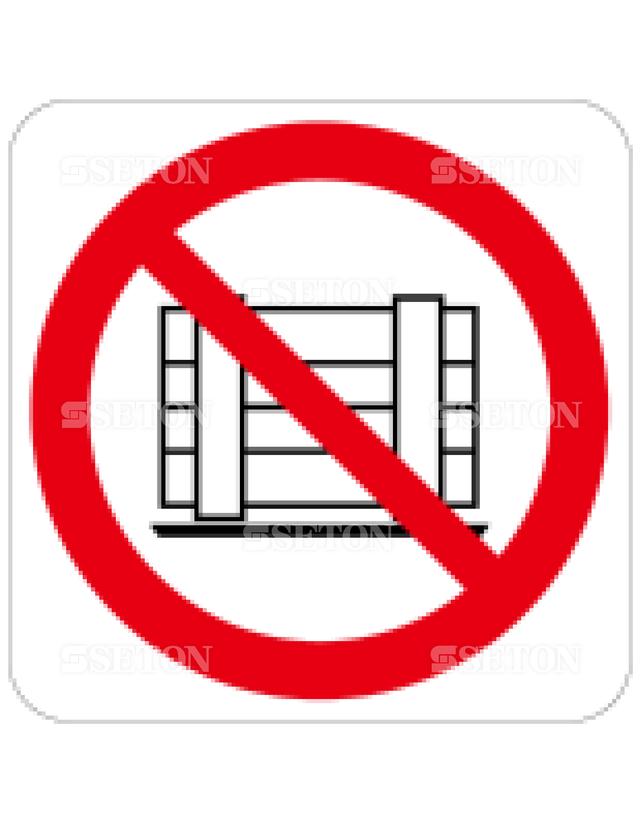 フロア・サインマークシール ISO 荷物を置くな 言語なし 140×140