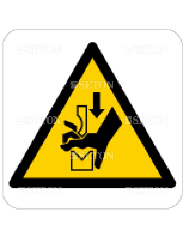 フロア・サインマークシール ISO プレスと冶具に注意 言語なし 140×140