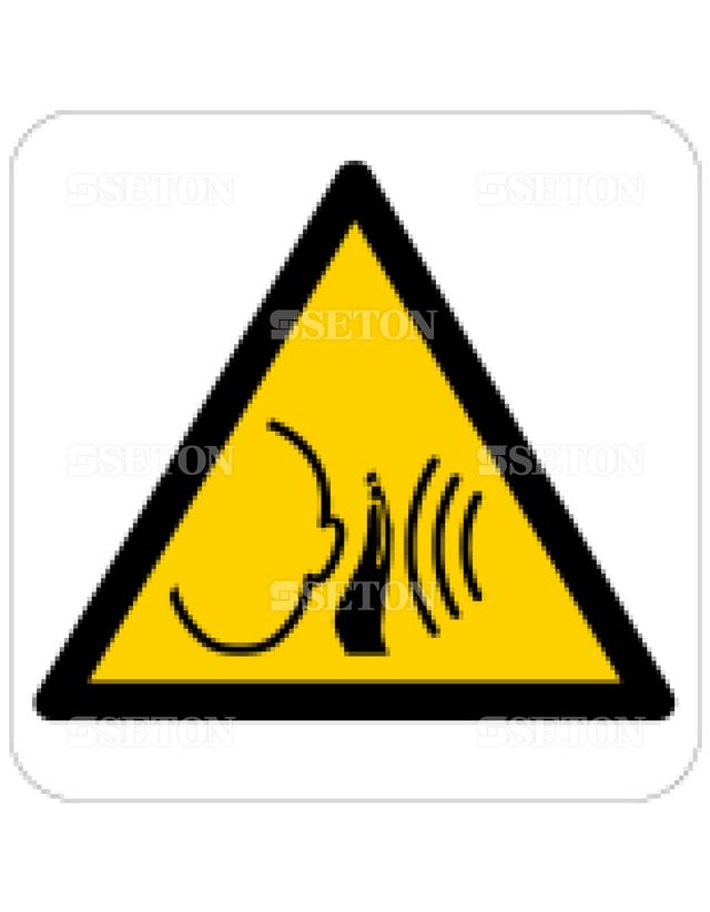 フロア・サインマークシール ISO 大音量に注意 言語なし 140×140