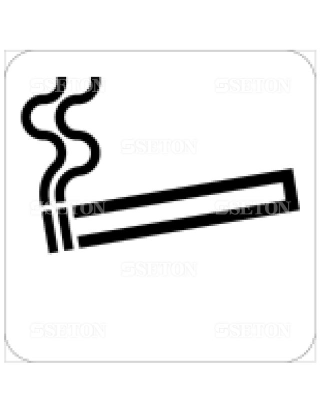 フロア・サインマークシール JIS 喫煙所 言語なし 140×140