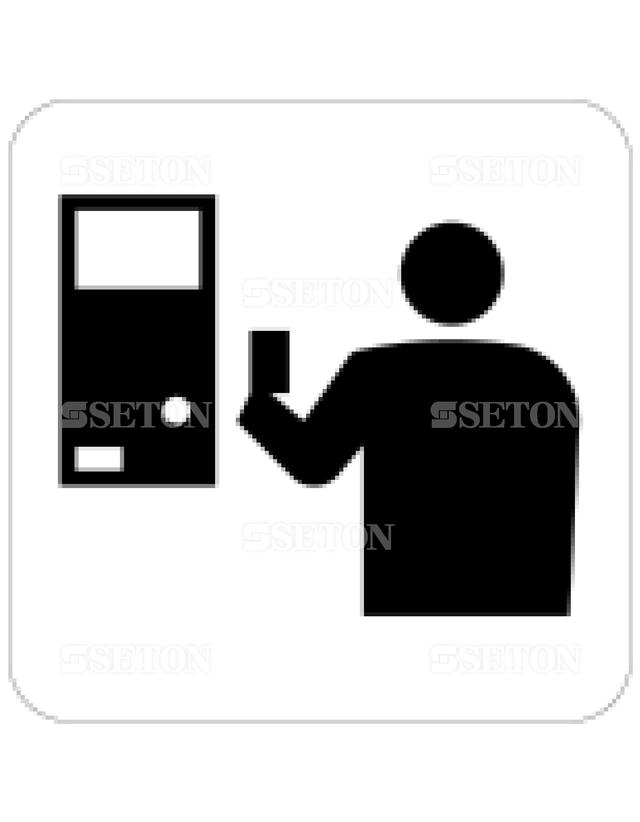 フロア・サインマークシール JIS きっぷうりば/精算所 言語なし 140×140