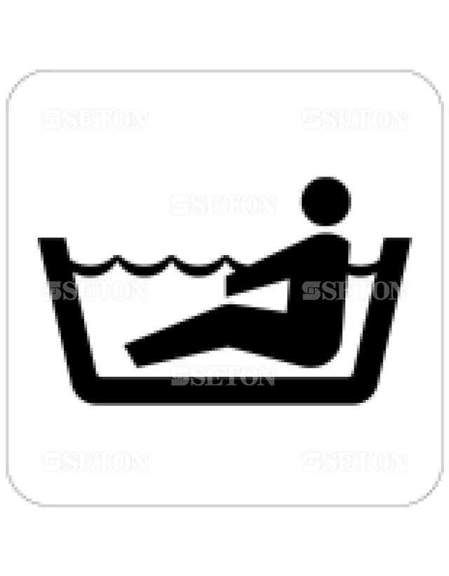 フロア・サインマークシール JIS 浴室 言語なし 140×140