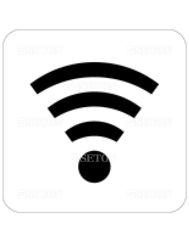 フロアサインマークラベル オリジナル 無線LAN 言語なし 140×140