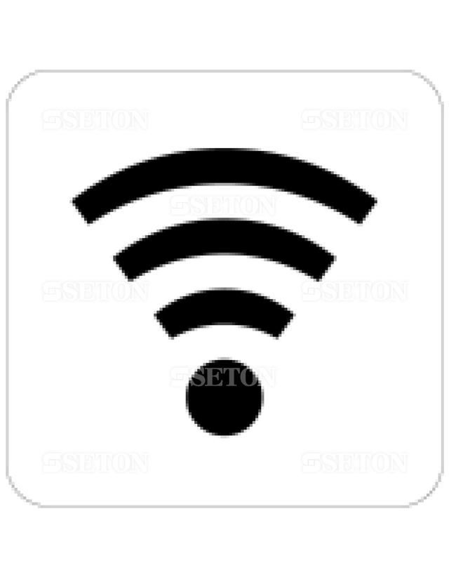 フロア・サインマークシール JIS 無線LAN 言語表記なし 140×140mm