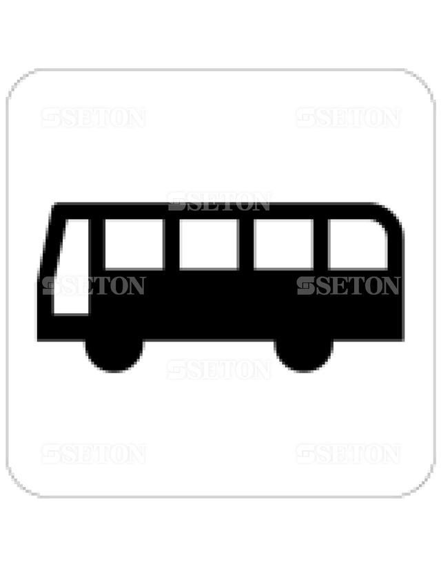 フロア・サインマークシール JIS バス/バスのりば 言語なし 140×140