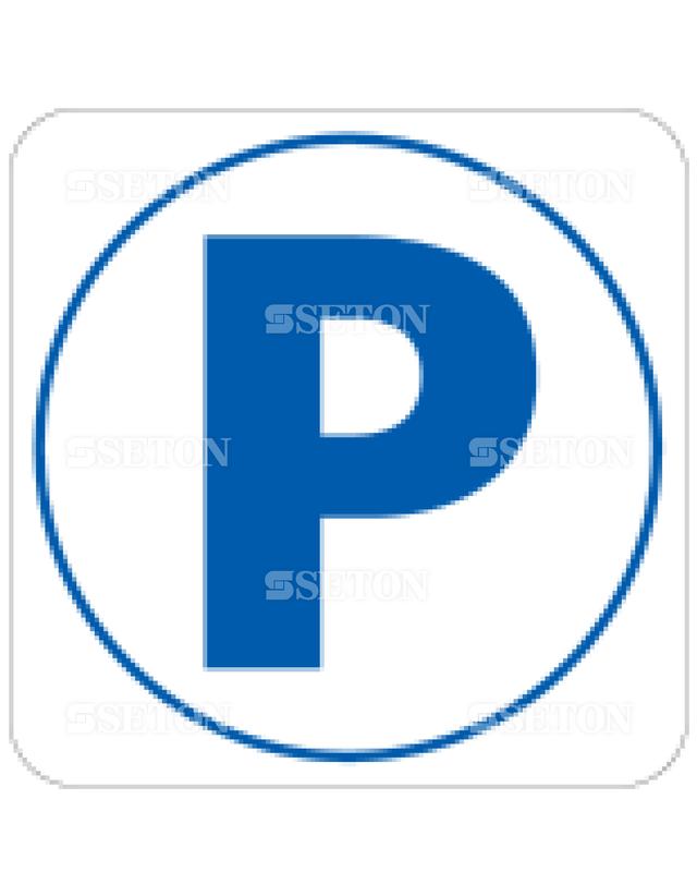 フロア・サインマークシール JIS 駐車場 言語なし 140×140