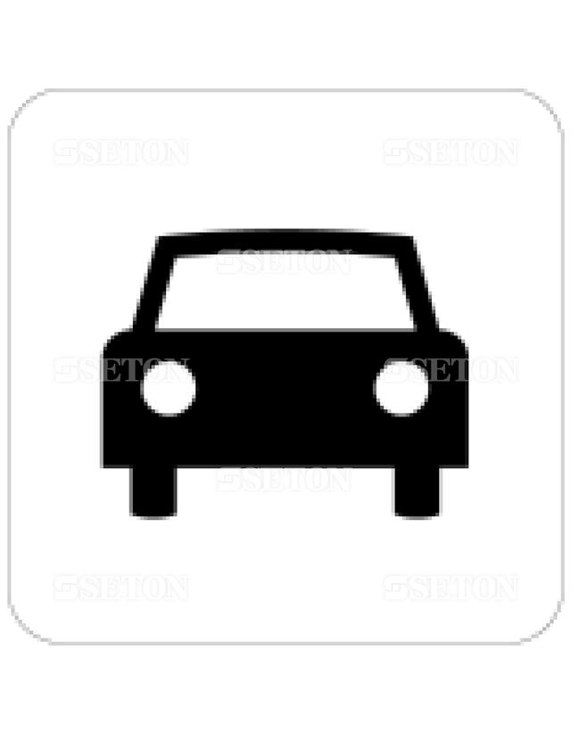 フロアサインマークラベル オリジナル 一般車 言語なし 140×140