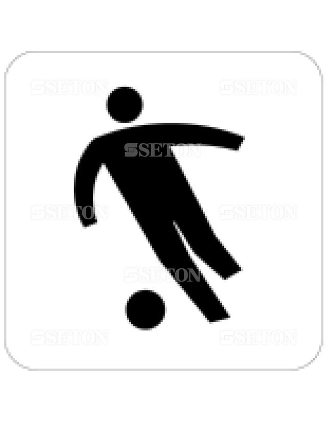 フロア・サインマークシール JIS サッカー競技場 言語なし 140×140