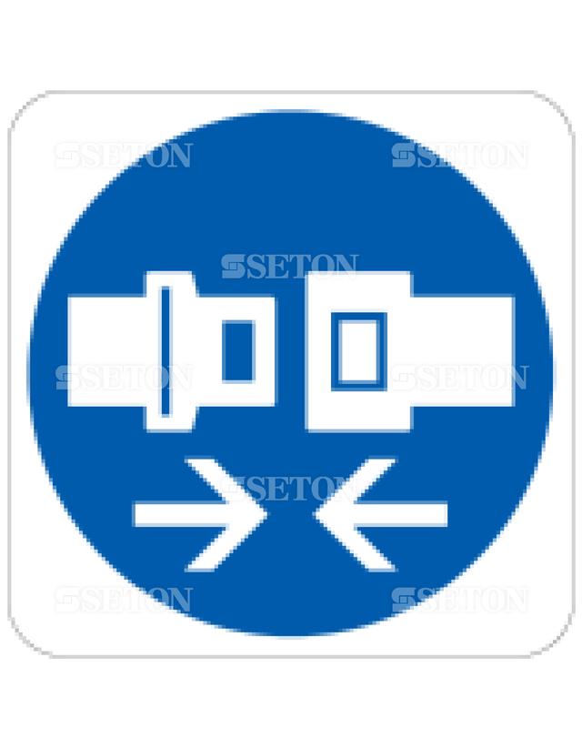 フロアサインマークラベル オリジナル シートベルトを締める 言語なし 140×140