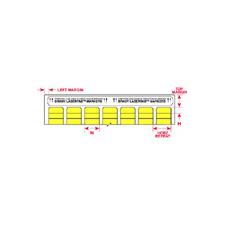 ELAT-21-747-1-YL  W63.0mm x H25.0mm 黄色ポリエステルラベル