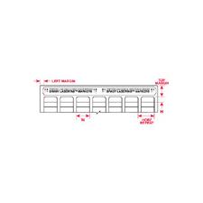 LAT-8-799-10  W25.4mm x H38.1mm  白色ナイロン布ラベル
