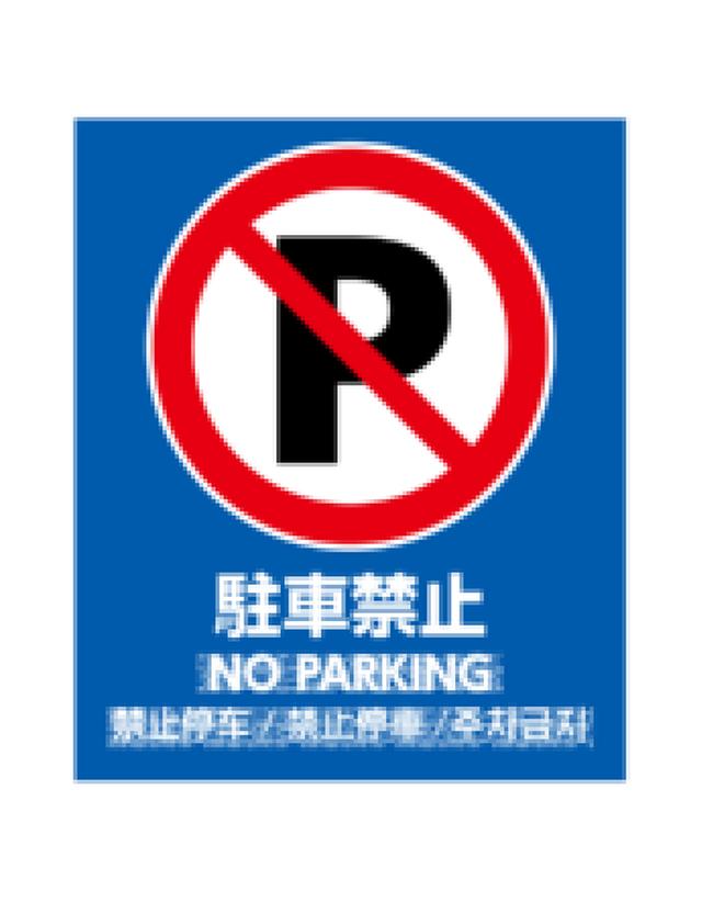 バリアポップ 駐車禁止 青 言語あり