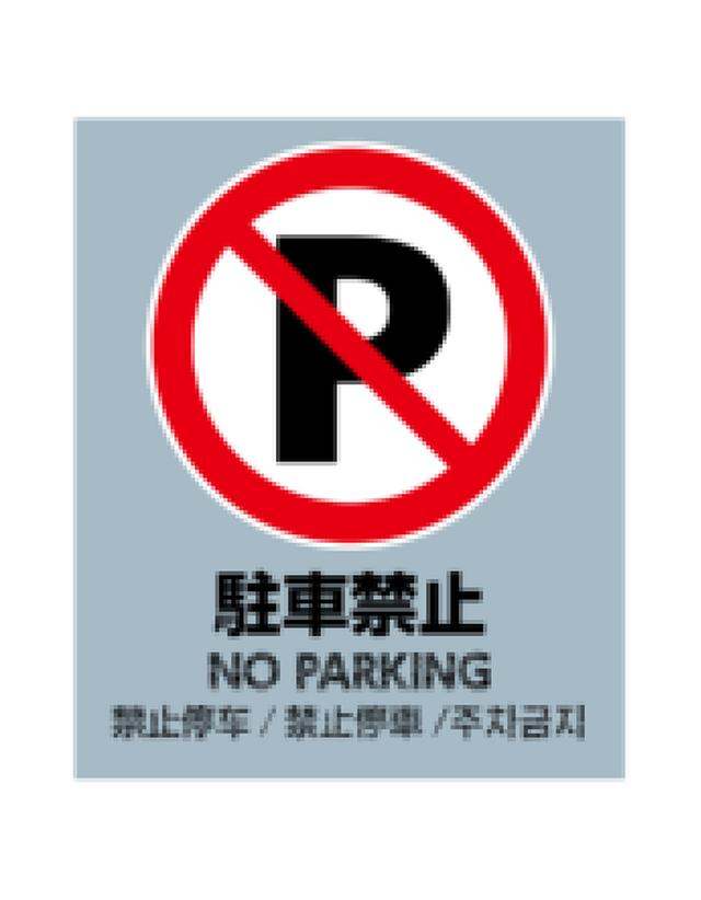 バリアポップ 駐車禁止 グレー 言語あり