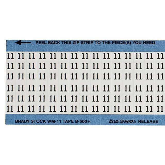 ワイヤーマーカーカード「11」WM-11-PK 900ラベル/箱