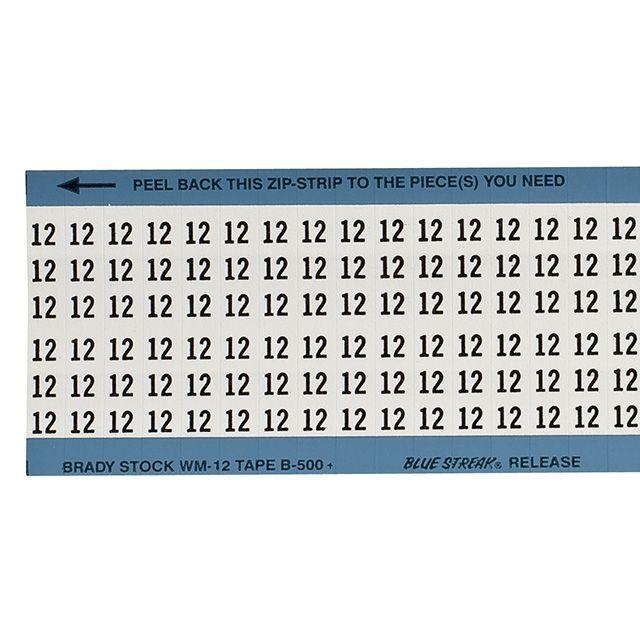 ワイヤーマーカーカード「12」WM-12-PK 900ラベル/箱