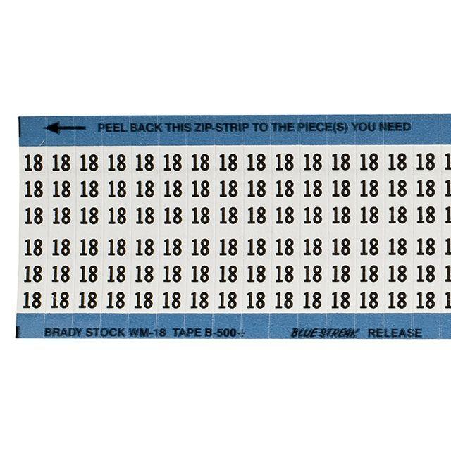 ワイヤーマーカーカード「18」WM-18-PK 900ラベル/箱