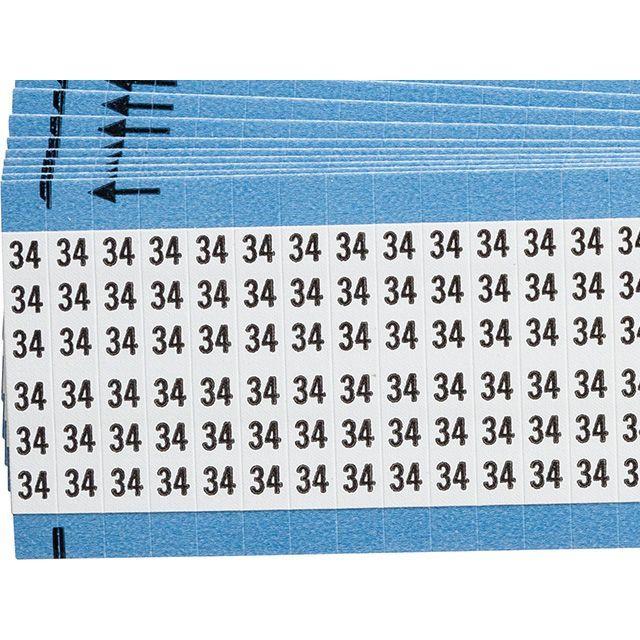 ワイヤーマーカーカード「34」WM-34-PK 900ラベル/箱