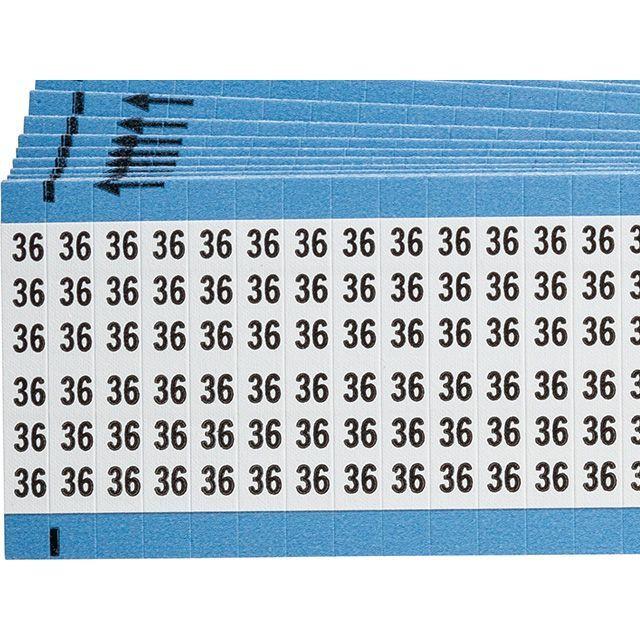ワイヤーマーカーカード「36」WM-36-PK 900ラベル/箱