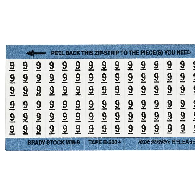 ワイヤーマーカーカード「9」WM-9-PK 900ラベル/箱