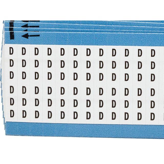 ワイヤーマーカーカード「D」WM-D-PK 900ラベル/箱