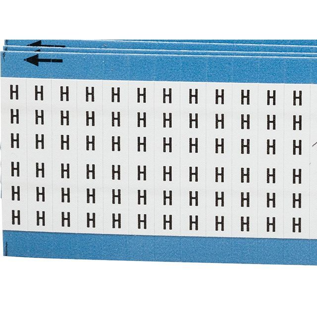 ワイヤーマーカーカード「H」WM-H-PK 900ラベル/箱