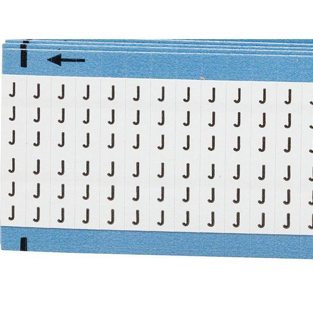 ワイヤーマーカーカード「J」WM-J-PK 900ラベル/箱