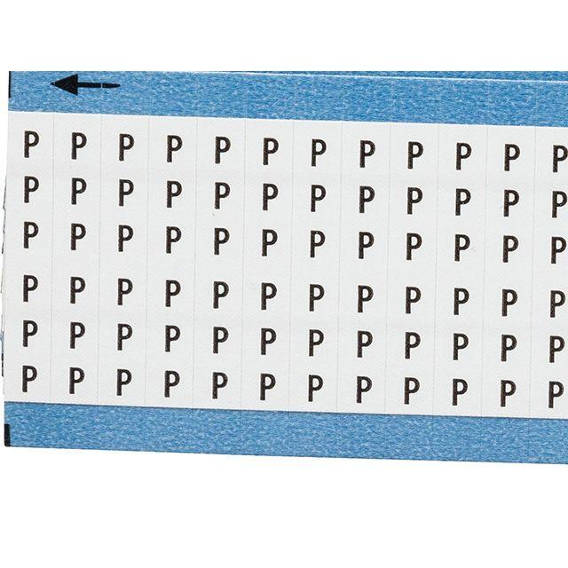 ワイヤーマーカーカード「P」WM-P-PK 900ラベル/箱