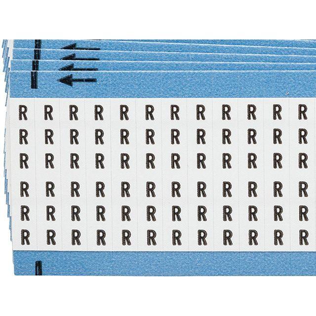 ワイヤーマーカーカード「R」WM-R-PK 900ラベル/箱
