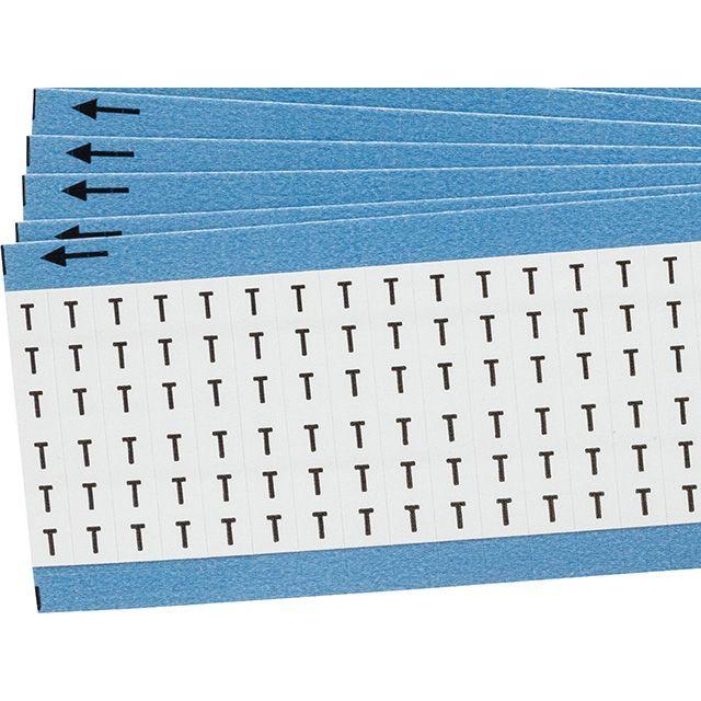 ワイヤーマーカーカード「T」WM-T-PK 900ラベル/箱