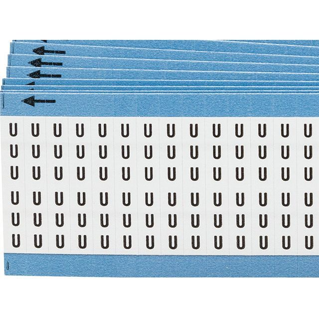 ワイヤーマーカーカード「U」WM-U-PK 900ラベル/箱