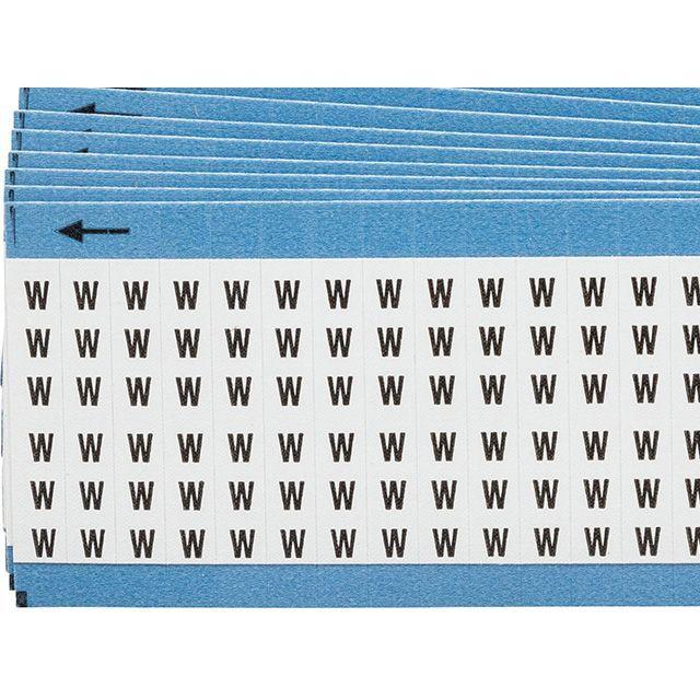 ワイヤーマーカーカード「W」WM-W-PK 900ラベル/箱