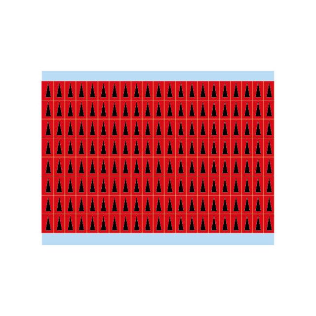 故障指示ラベル BIA-RD(25CDS/BX) 149390 赤地に黒三角