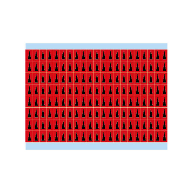 故障指示ラベル BIA-RD(25CDS/BX) 48903 赤地に黒三角
