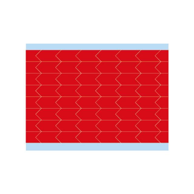 故障指示ラベル DIA-375-RD(25CDS/BX) 149403 赤 9.53x4.75mm