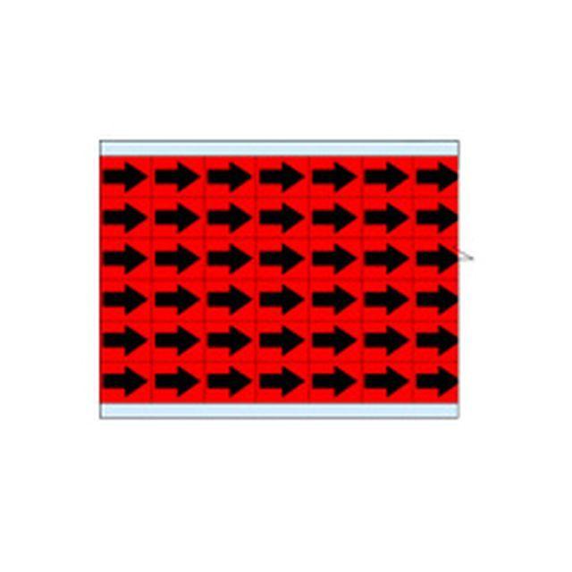 故障指示ラベル EIA-3025-RD(25CDS/BX) 49332 赤地に黒矢印