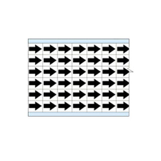 故障指示ラベル EIA-3025-WT(25CDS/BX) 49331 白地に黒矢印