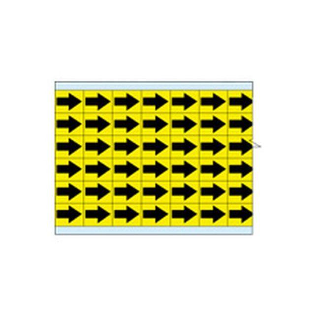 故障指示ラベル EIA-3025-YL(25CDS/BX) 149393 黄色地に黒矢印